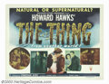 """Movie Posters:Science Fiction, The Thing From Another World (RKO, 1951). Half Sheet (22"""" X 28"""") Style A. This film was adapted from John W. Campbell's stor..."""