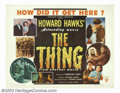 "Movie Posters:Science Fiction, The Thing From Another World (RKO, 1951). Half Sheet (22"" X 28"")Style B. When producer Howard Hawks made this film he didn'..."