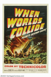 "When Worlds Collide (Paramount, 1951). One Sheet (27"" X 41""). This classic sci-fi tale poses the question of w..."