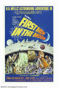 "First Men in the Moon (Columbia, 1964). One Sheet (27"" X 41""). This science fiction treat was a British made f..."