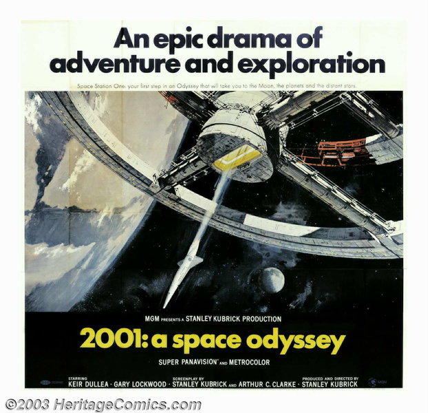 2001: A Space Odyssey (MGM, 1968)  Six Sheet (81