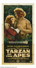 """Movie Posters:Action, Tarzan of the Apes (First National, 1918). Three Sheet (41"""" X 81""""). This historic poster from the first Tarzan film, starrin..."""