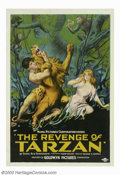"Movie Posters:Action, The Revenge of Tarzan (Goldwyn, 1920). One Sheet (27""X41""). Gene Pollar, a New York fireman who aspired to be an actor, star..."