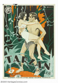 "Movie Posters:Adventure, Tarzan the Ape Man (MGM, 1932). Swedish Poster (27.5"" X 39.5"").Johnny Weissmuller, a 28 year old Olympic gold medalist, mad..."