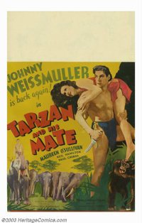 "Tarzan and His Mate (MGM, 1934). Window Card (14""X22""). This was the second in the MGM/Tarzan series and consi..."