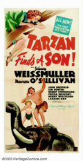 "Movie Posters:Adventure, Tarzan Finds a Son (MGM, 1939). Three Sheet (41"" X 81""). The fourthin the MGM Tarzan series, this popular entry has Tarzan ..."