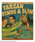 "Movie Posters:Adventure, Tarzan Finds a Son (MGM, 1939). Window Card (Trimmed) (14"" X 17"").It had been three years since MGM's last, Johnny Weissmul..."