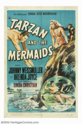 "Movie Posters:Adventure, Tarzan and the Mermaids (RKO, 1948). One Sheet (27"" X 41"").This wasthe last Tarzan film that Johnny Weissmuller would make ..."