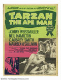 "Movie Posters:Adventure, Tarzan the Ape Man (MGM, 1957). 30""X40"". MGM's 1957 Re-release.Screen adaptation of the Edgar Rice Burroughs' novel pairs J..."