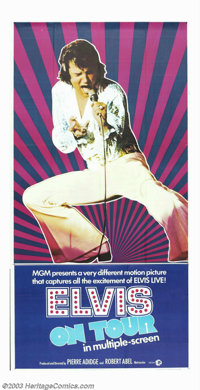 """Elvis on Tour (MGM, 1972). Three Sheet (41"""" X 81""""). During Elvis Presley's career, there were two documentarie..."""