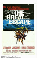 "Movie Posters:Adventure, Great Escape, The (United Artists, 1963). One Sheet (27"" x 41"").John Sturges' WWII film has it all: plot, action, and the s..."