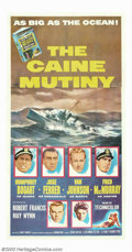 """Movie Posters:War, Caine Mutiny (Columbia, 1954). Three Sheet (41"""" X 81""""). HumphreyBogart heads an all star cast which includes; José Ferrer, ..."""