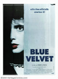 "Movie Posters:Drama, Blue Velvet (DeLaurentis, 1986). French Poster (46"" X 62""). DavidLynch, already a master of the unusual, created his master..."