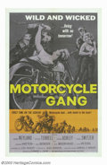 "Motorcycle Gang (AIP, 1957). One Sheet (27"" X 41""). Although this film was made four years after ""The Wil..."