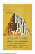 "Movie Posters:Action, Ben-Hur (MGM, 1959). One Sheet (27"" X 41""). Charlton Heston stars in the 1959 version of Lew Wallace's best-selling novel, w..."