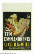 """Movie Posters:Drama, Ten Commandments, The (Paramount, 1923). Window Card (14"""" X 22""""). This window card is from Cecil B. DeMille's first screen v..."""
