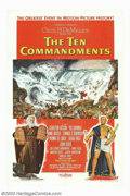 """Movie Posters:Drama, Ten Commandments, The (Paramount, 1956). One Sheet (27"""" X 41""""). Style A. Cecil B. DeMille's biblical epic about Moses as he ..."""