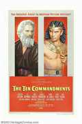 "Movie Posters:Drama, Ten Commandments, The (Paramount, 1956). One Sheet (27"" X 41"") Style B. Cecil B. DeMille's biblical epic concerning Moses, a..."