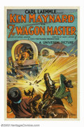 "Movie Posters:Western, Wagon Master (Universal, 1929). One Sheet (27"" X 41""). This was KenMaynard's first sound film and highly awaited by his fan..."