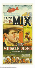 """Movie Posters:Serial, Miracle Rider, The (Mascot, 1935). Three Sheet (41"""" X 81""""). Thiswas western star Tom Mix's first serial, originally slated ..."""