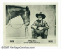 "Movie Posters:Western, Rough Riding Romance (Fox, 1919). Original Artwork for PhotographedTitle Card (10"" X 12"") and Lobby Card (8"" X 10""). Tom Mi... (Total:2 Movie Posters Item)"