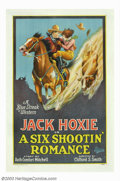 "Movie Posters:Western, Six Shootin' Romance, A (Universal, 1926). One Sheet (27"" X 41"").This was one of the Universal westerns that Jack Hoxie mad..."