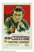 "Movie Posters:Western, Fighting Hombre, The (Bob Custer Productions, 1927). One Sheet(27""X41""). This spectacular one sheet captures a riveting por..."