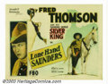 "Movie Posters:Western, Lone Hand Saunders (FBO, 1926). Half Sheet (22"" X 28""). FredThomson is little remembered today due to the fact that only a ..."