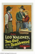 """Movie Posters:Western, Two-Gun of the Tumbleweed (Pathe', 1927). One Sheet (27"""" X 41"""").Gower Gulch regular Leo Maloney both produced, directed, an..."""