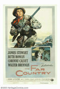 """Movie Posters:Western, Far Country, The (Universal International, 1955). One Sheet(27""""X41""""). James Stewart and director Anthony Mann made a series..."""