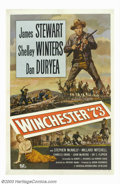 "Movie Posters:Western, Winchester '73 (Universal International, 1950). One Sheet (27"" X41""). From 1950-1955, Jimmy Stewart and director Anthony Ma..."