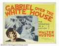 "Movie Posters:Fantasy, Gabriel Over the White House (MGM, 1933). Half Sheet (22"" X 28""). Interesting film about a newly elected United States presi..."