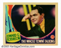 "Movie Posters:Comedy, Whole Town's Talking, The (Columbia, 1935). Lobby Card (11"" X 14""). John Ford directed this wonderful golden age comedy abou..."