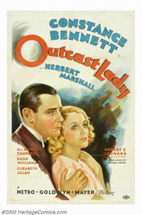 """Outcast Lady (MGM, 1934). One Sheet (27"""" X 41""""). This title starring Constance Bennett and Herbert Marshall, i..."""