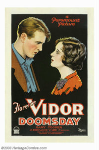"Doomsday (Paramount, 1928). One Sheet (27"" X 41""). This was the break out role for the young actor from Helena..."