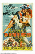 """Movie Posters:Adventure, Unconquered (Paramount, 1947). One Sheet (27"""" X 41""""). PauletteGoddard plays a felon who is sold into slavery in America. In..."""