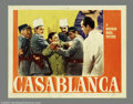"Movie Posters:Film Noir, Casablanca (Warner Brothers, 1942). Lobby Card (11"" X 14""). PeterLorre is arrested for the murder of a German courier while..."