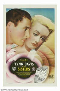 "Sisters, The (Warner Brothers, 1938). One Sheet (27"" X 41""). Warner Brothers decided to cast their two biggest..."