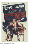 "Movie Posters:Action, Prince and the Pauper, The (Warner Brothers, 1937). One Sheet (27"" X 41""). Mark Twain's delightful tale about two boys, one ..."