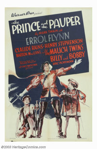 "Prince and the Pauper, The (Warner Brothers, 1937). One Sheet (27"" X 41""). Mark Twain's delightful tale about..."