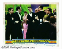 """Thirty-Day Princess (Paramount, 1934). Lobby Card (11"""" X 14""""). Lighthearted comedy about a princess, played by..."""