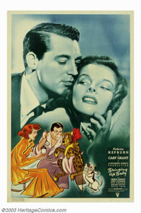 "Bringing Up Baby (RKO, 1938). 40"" X 60"". Considered by many to be the first and best of the screwball comedy g..."