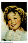 """Movie Posters:Miscellaneous, Shirley Temple Portrait (Fox, 1934). Portrait Poster (28"""" X 41""""). Gorgeous image of little Shirley Temple, who was signed by..."""