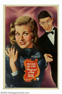 """Vivacious Lady (RKO, 1938). (40"""" X 60""""). George Stevens directed this romantic comedy starring Ginger Rogers a..."""