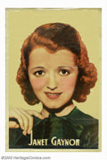 "Movie Posters:Miscellaneous, Janet Gaynor Portrait (Fox, 1934). 40"" X 60"" Personality PortraitPoster. Janet Gaynor won the first Best Actress-Academy Aw..."