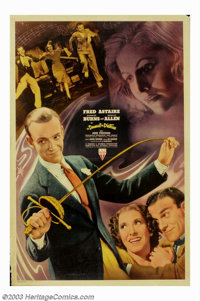 """Damsel In Distress, A (RKO, 1937). (40"""" X 60""""). This is Fred Astaire's first RKO musical without his longtime..."""