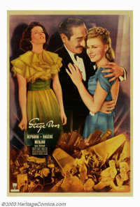 "Stage Door (RKO, 1937). 40"" X 60"". RKO with director Greg LaCava pulled together a remarkable cast and made th..."