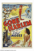 "Movie Posters:Black Films, Gone Harlem (Sack Amusement Enterprises, 1939). One Sheet (27"" X41""). In the late thirties and throughout the forties, Al S..."