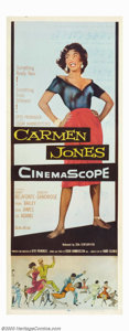 "Movie Posters:Black Films, Carmen Jones (20th Century Fox, 1954). Insert (14"" X 36""). DorothyDandridge starred in this Oscar Hammerstein adaptation of..."