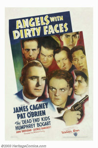 "Angels With Dirty Faces (Warner Brothers, 1938). One Sheet (27"" X 41""). Director Michael Curtiz delivers a fas..."